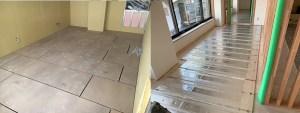 もちろん置床・乾式二重床設置において床暖房パネルを設置することも出来ます。足元から温かい床暖房がアパートやマンションでの生活を快適にします。ただ電気代には注意が必要です。