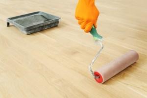 フロアサンディング後の着色塗装ウレタン塗装UV塗装