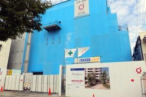7階建て82戸の「アールブラン大倉山」はすでに販売が活動が始まっている