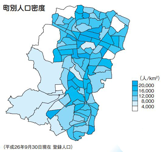 人口密度は2万人超!港北区内トップに入ったのは意外にも大倉山だった