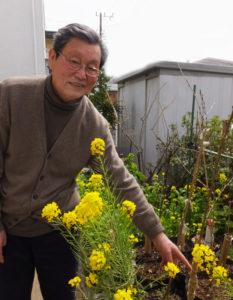 池本さんは3月27日(月)に植樹する「シドモア桜」を港北区役所の職員と一緒に接ぎ木し、準備しているという