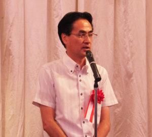 港北区の警察、消防、そして行政の連携、そして市民の防犯への協力は18区で一番ではないか、と感謝の気持ちを述べる横山港北区長