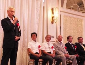 第32代目となる瀧口操元港北署長が出席した8人の元署長を代表してあいさつ。新庁舎に移転するためにがんばったのに異動になってしまったとのエピソードも