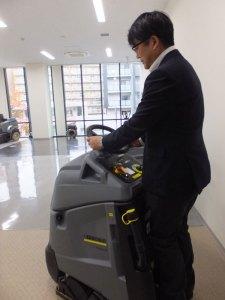 業務用の高圧洗浄機は、工場用など限りなく大型のものもあるという。実機の確認もできるので、商談もしやすそう