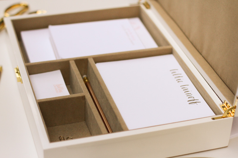 Personalized Letterpress Stationery Set Shindig Paperie