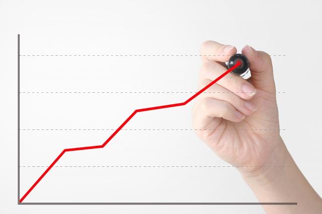 上昇グラフを書く人