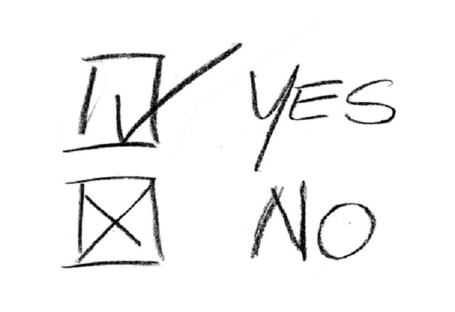 YesとNoのチェックマーク