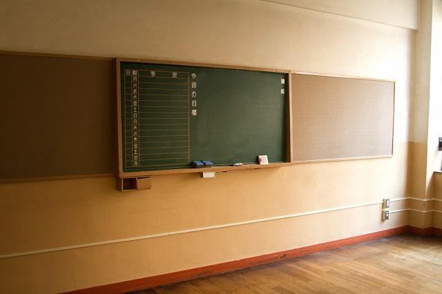 学校の教室の黒板