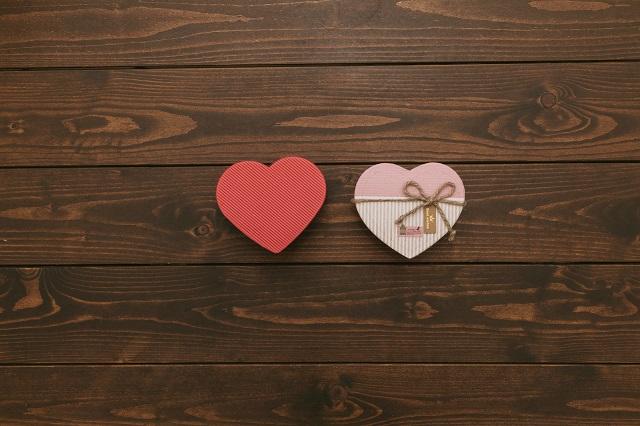 バレンタインチョコのギフトボックス