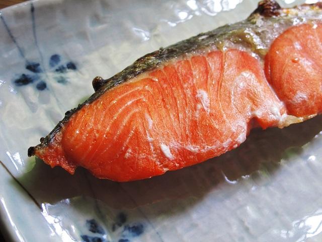 焼鮭のアップ