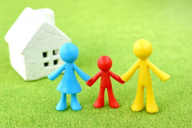 家と人の人形