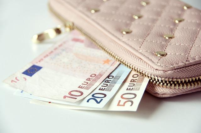 女性の財布とお札