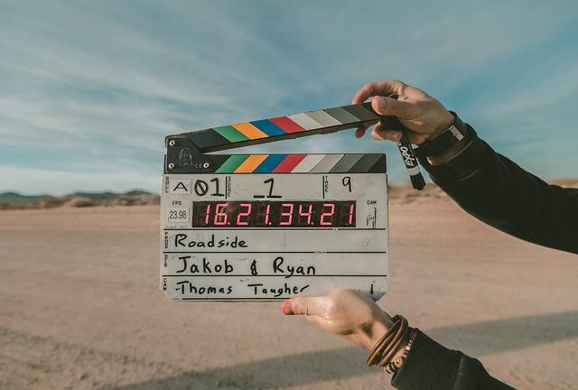 映画の撮影風景