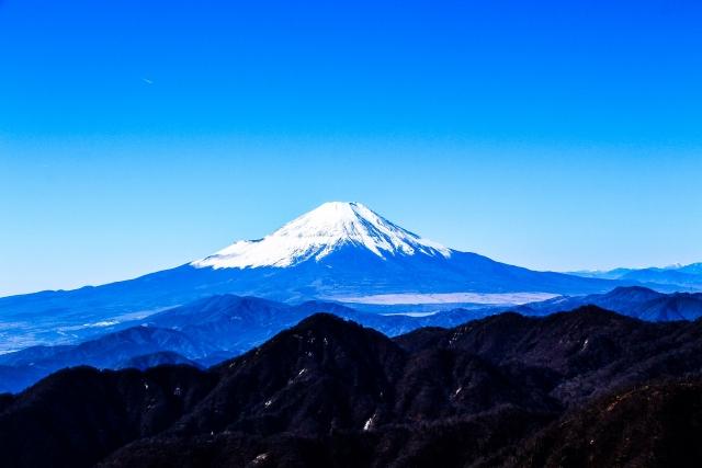 澄み渡った富士山