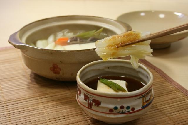 湯豆腐とポン酢