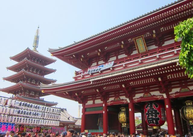 浅草の浅草寺と五重塔