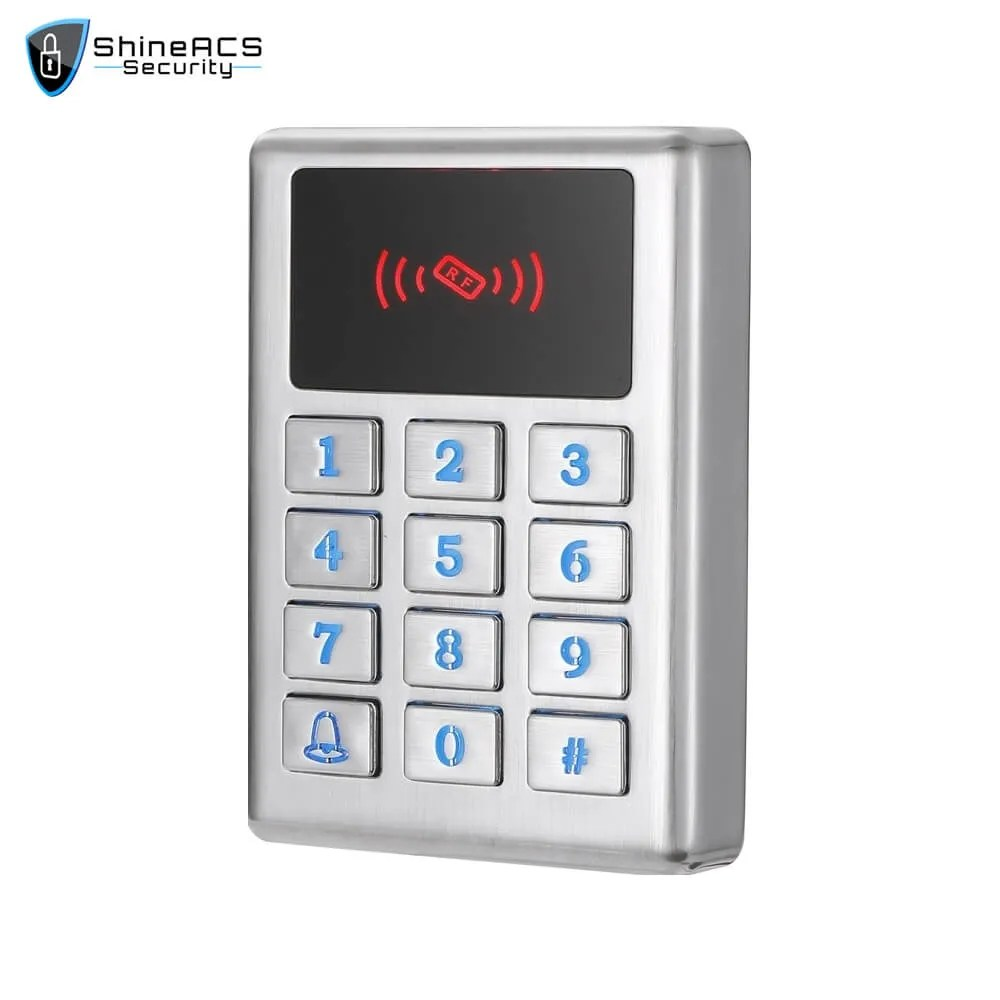 Waterproof Metal Access Control Card Reader SS M02KW 2 - ShineACS Access Control Products