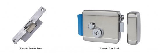 electric rim lock and electric strike lock 550x185 - Access Control System Knowledge