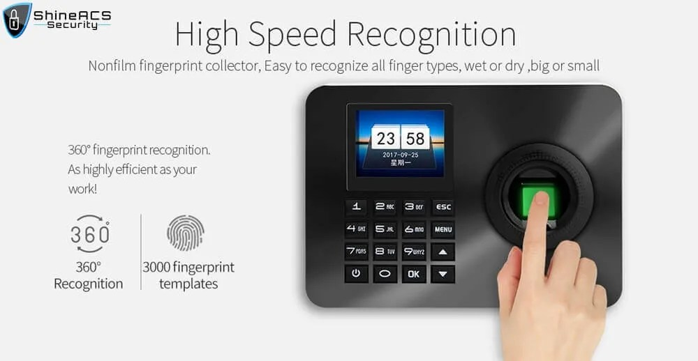 Fingerprint Time Attendance ST F001High speed recognition - Fingerprint Time Attendance Terminal ST-F001(4G Optional)