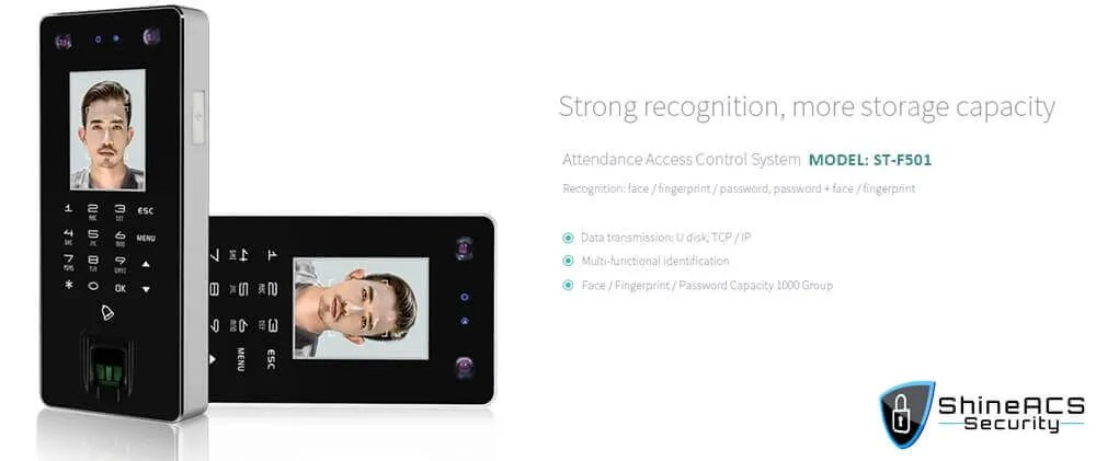 Time Attendance device ST F501 Strong recognition - Face and Fingerprint Time Attendance Standalone Terminal ST-F501