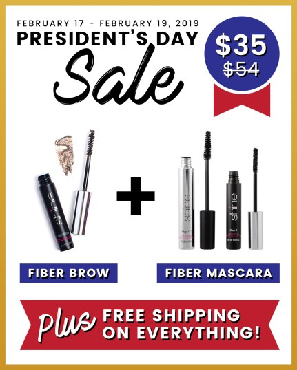 Shine Cosmetic's Presidents Day Sale
