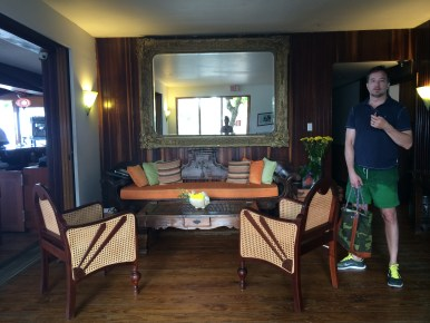 The lobby at Hosteria Del Mar. Yes, we'd like to stay here please.