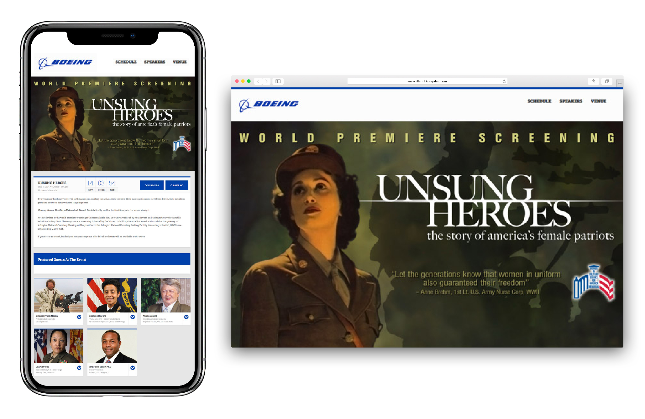 Boeing Digital Invite for Unsung Heroes