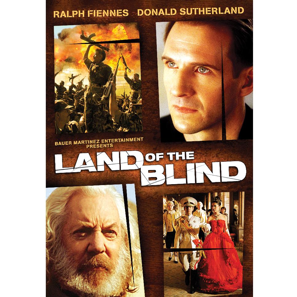 Land of the Blind Keyart - Ralph Fiennes, Donald Sutherland