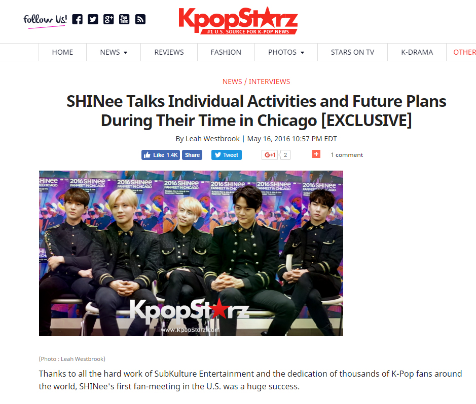 [Interview] KpopStarz – Fanmeet in Chicago