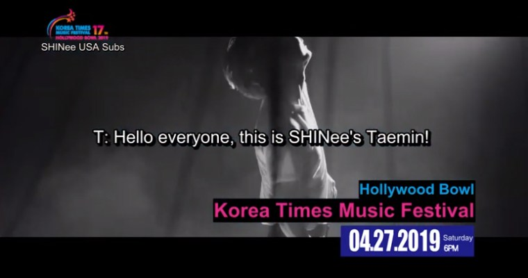 Taemin: KTMF Fan Pack (Fanchants + Announcement)~!