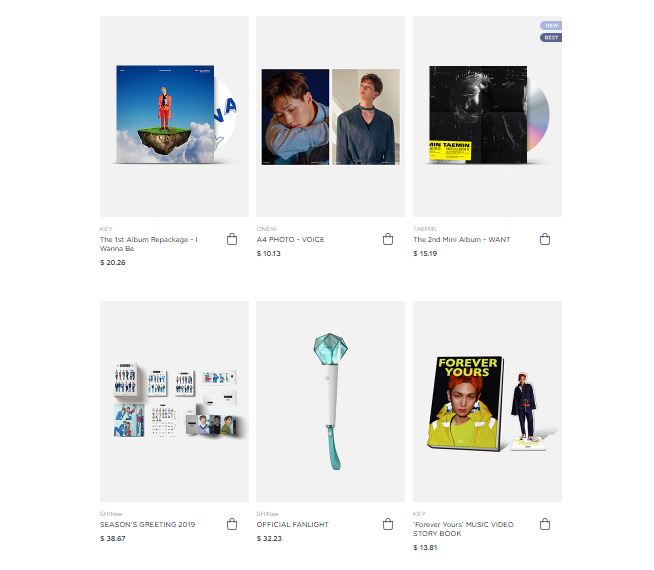 7dbfeaf26a8 SMTOWN &STORE: SM's Official Online Store (Korea Based) – SHINee USA