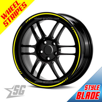 Wheel rim stripes - blade style universal