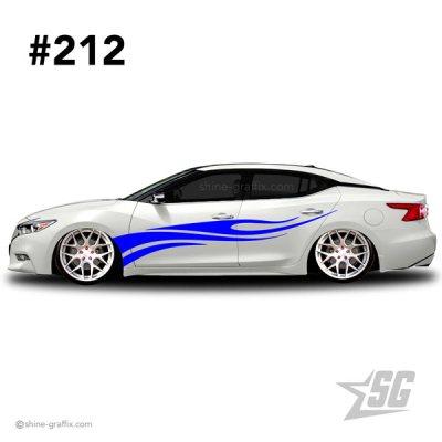car graphic 212 decal stripe graphics JDM