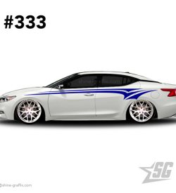 car graphic 333 decals stripe graphics maxima mods