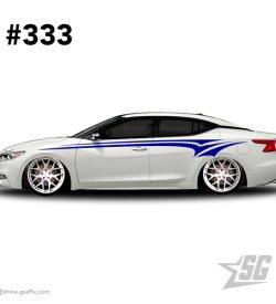 car graphic 333 decals stripe graphics maxima mods