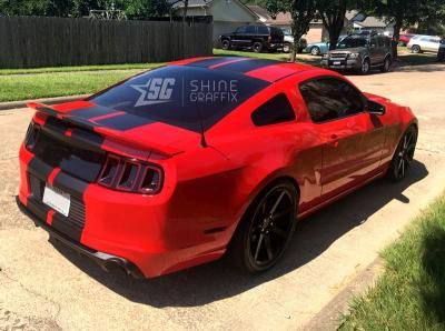 Universal 12 inch wide stripes Mustang lemans style Rear