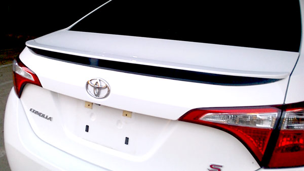 2x Lowered car outline sticker 10th gen WITH WING XRS for Toyota Corolla e15