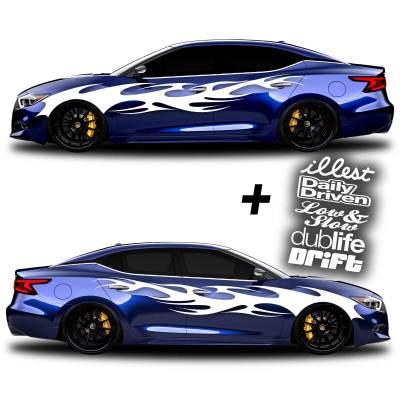 car vinyl graphics 002 white
