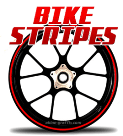 Motorcycle wheel Stripes