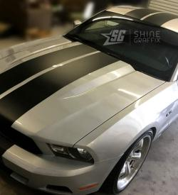 Mustang Racing Stripes 10in wide side