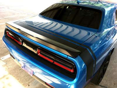 Dodge Challenger 2008-2016 Scat Pack Style Rear Stripes Decals 3