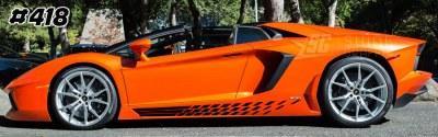 Lamborghini aventador side graphics 418 LP 700, 720, 750, Coupe, Roadster, SV