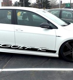 Golf R VW side graphics rocker panel stripe