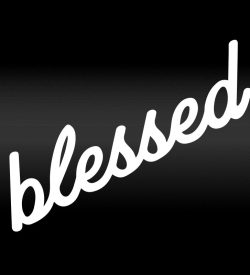 blessed decal Sticker