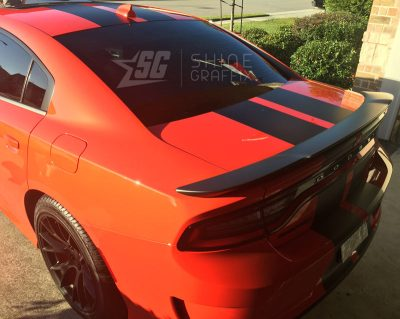 Charger srt racing stripes 1 scat pack back