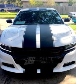 2018 dodge charger rally racing stripes