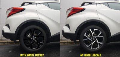 2018 Toyota C-HR wheel decals kit rear