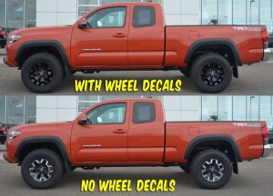 2018 toyota tacoma off road wheel decals side