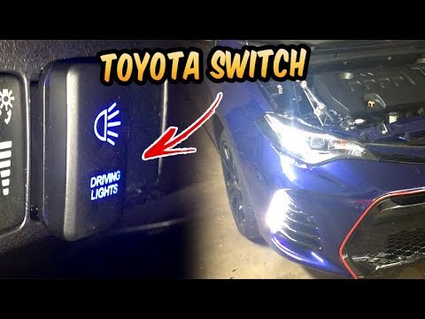 How to install Toyota corolla switch led 2014 - 2018