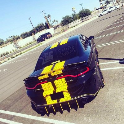 DODGE charger stripes SRT scat pack honey comb rear